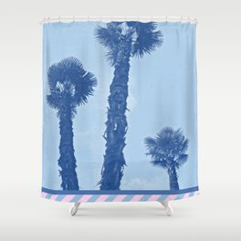 Palm trees - Winter in Opatija #3 Shower Curtain
