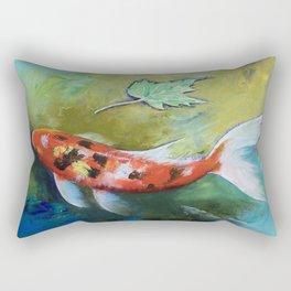 Zen Butterfly Koi Rectangular Pillow