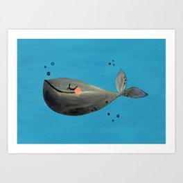 Whale Hello There Art Print