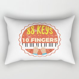 88 Keys 10 Fingers - Piano Pianist Music Rectangular Pillow