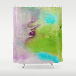Kate Moss but with a Purple Ombre Shower Curtain