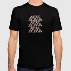 Triangle Triangle MEDIUM Black Mens Fitted Tee