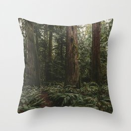 Old growth forest Throw Pillow