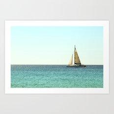 Sail Away with Me - Ocean, Sea, Blue Sky and Summer Sun Art Print