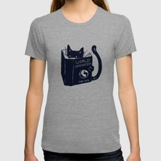 World Domination For Cats Tri-Grey MEDIUM Womens Fitted Tee