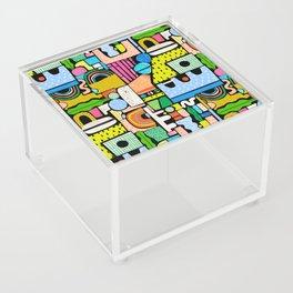 Color Block Collage Acrylic Box