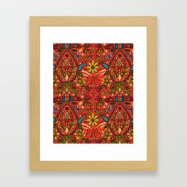 aziza fire Framed Art Print