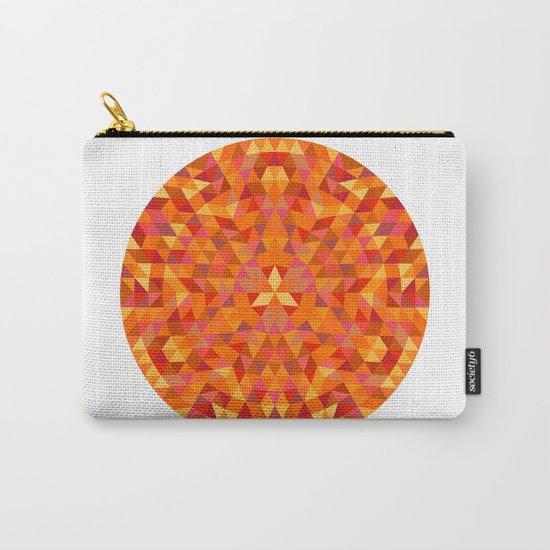 Triangle Sun Mandala Carry-All Pouch