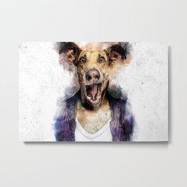 dog smile Metal Print