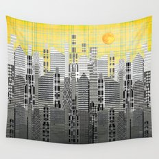 Plaid City Wall Tapestry