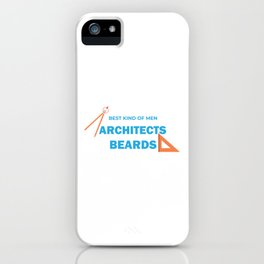 Bearded Architect Architectural Tools Profession Gift iPhone Case