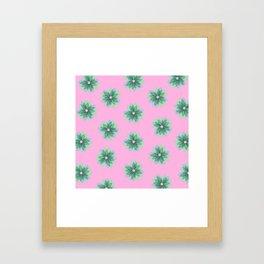 Geo Spring Flowers 03 Framed Art Print