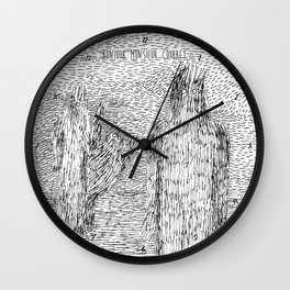 Bonjour Monsieur Courbet Wall Clock