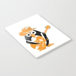 Funny penguin with guitar Notebook