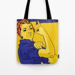 Rosie the Riveter speaks her mind Tote Bag
