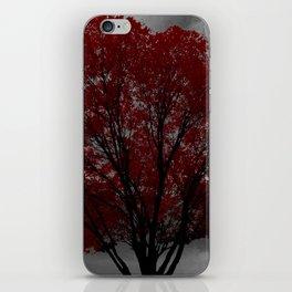 Red Tree, Grey Sky iPhone Skin