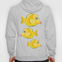 Yellow Tang in Coral Sea Hoody