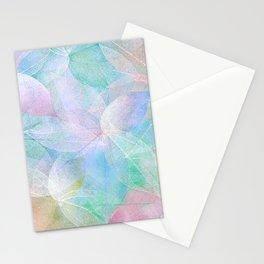 Pastel Colored Leaf Skeletons Stationery Cards