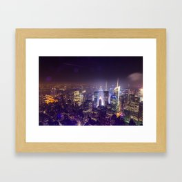 Times Square From Above Framed Art Print