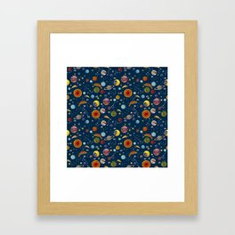 Interplanetary space pattern. Framed Art Print
