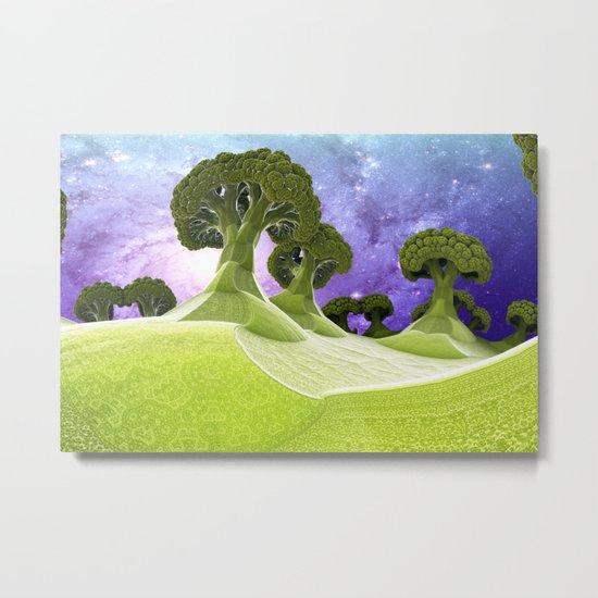Broccoli Planet / / #fractal #fractals #3d Metal Print