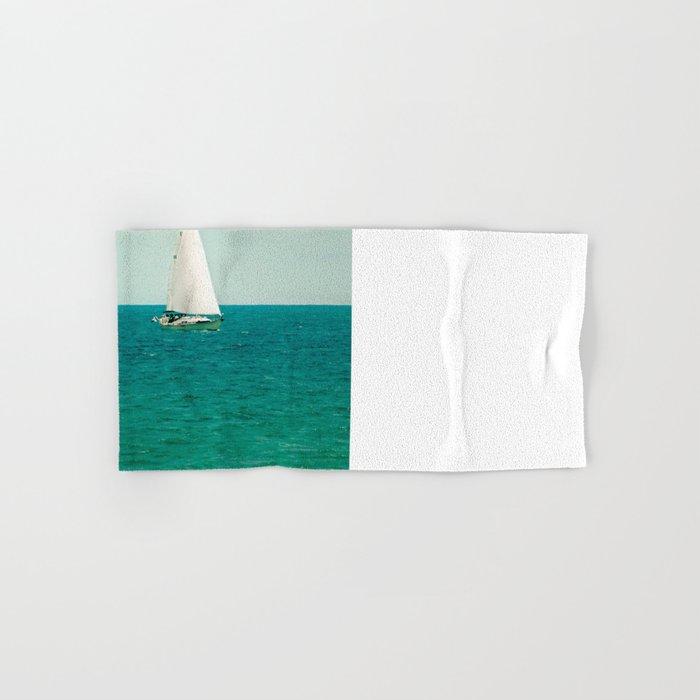 Minty Sail Hand & Bath Towel