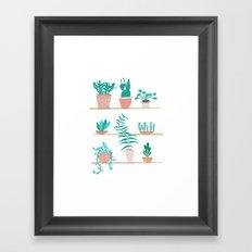 Pot Plants Framed Art Print