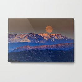 Mountain Moon Metal Print