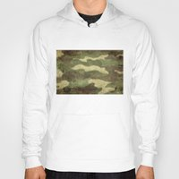 camouflage Hoodies featuring Distressed Camouflage  by Patterns
