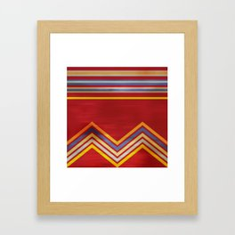Stripes and Chevrons Ethic Pattern Framed Art Print