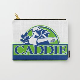 Professional Golfer and Caddie Retro Carry-All Pouch
