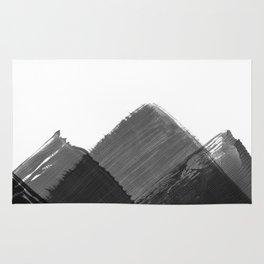 Minimalist Mountain Ink Art Print Rug