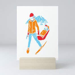Ski Patrol Gift Skiing Helper Medicial  Mini Art Print