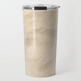 Light Brown Sand texture Travel Mug