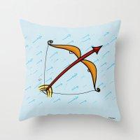 sagittarius Throw Pillows featuring Sagittarius by Giuseppe Lentini