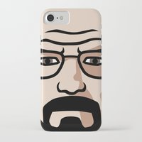 walter white iPhone & iPod Cases featuring Walter White by Joe Bidmead