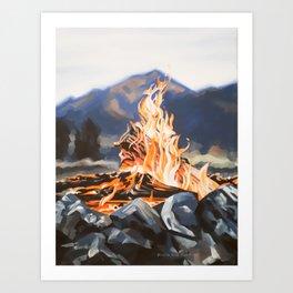 Campfire I Art Print