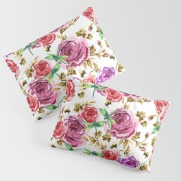 Insects and Flowers Pillow Sham