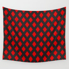 Red rombs pattern Wall Tapestry