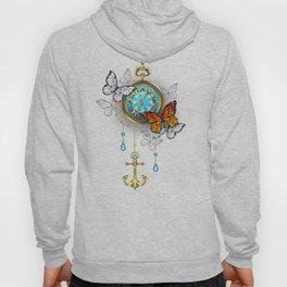 Compass with Butterflies Hoody