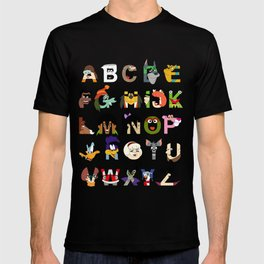 Child of the 70s Alphabet T-shirt
