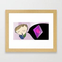 never be hurt again, encase your heart in diamond Framed Art Print