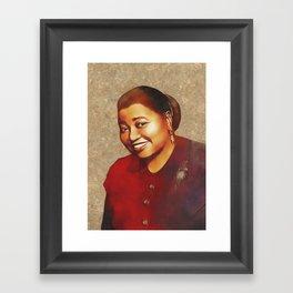 Hattie McDaniel, Hollywood Legend Framed Art Print