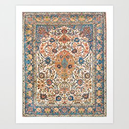 Isfahan Antique Central Persian Carpet Art Print