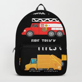 Cool Garbage Truck Kids Trash Recycling Driver  Backpack