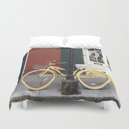 New Orleans Bicycle - Orleans Street Duvet Cover