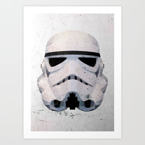Stormtrooper Low Poly Art Print