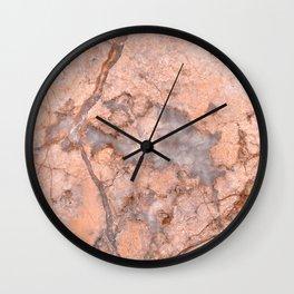 Peach Marble Wall Clock