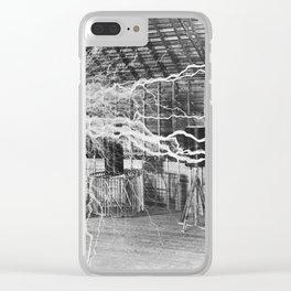 Nikola Tesla Electricity Clear iPhone Case