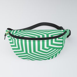 Green (pigment) - green - Minimal Vector Seamless Pattern Fanny Pack